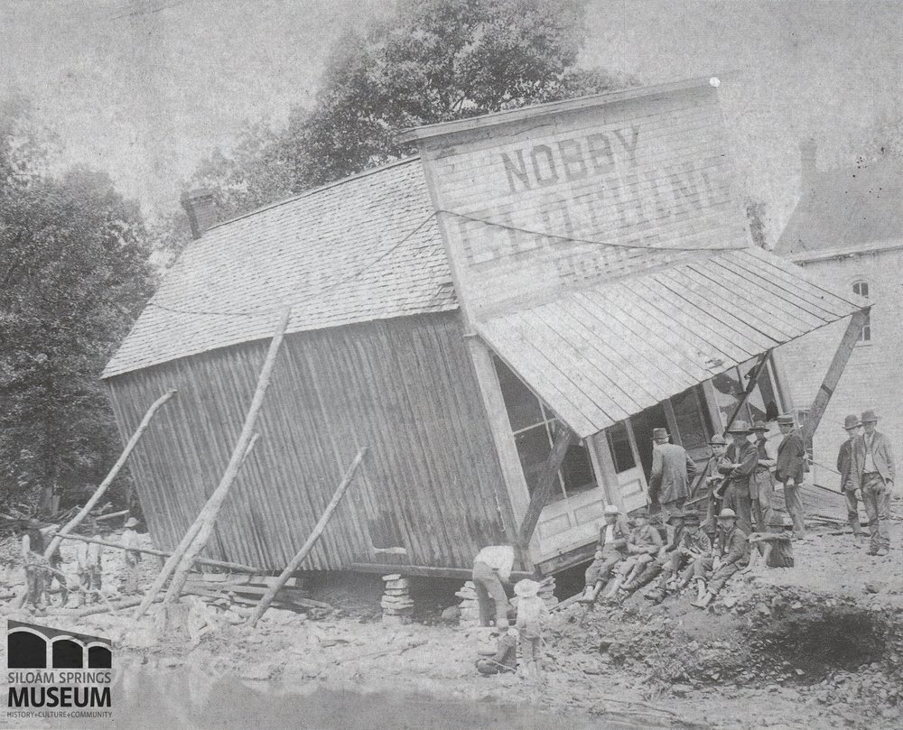 Nobby Clothing Company was undermined by the 1892 flood.