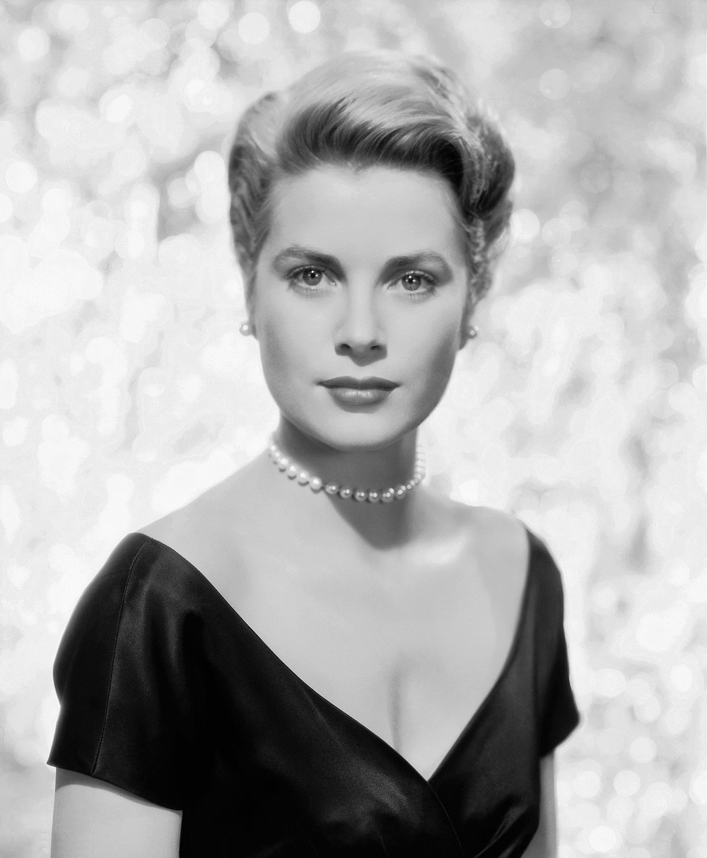 Photo has no copyright. This photo of Grace Kelly shows a typical women's hairstyle from the 1950's, in the later years of Rapps' Barber Shop.