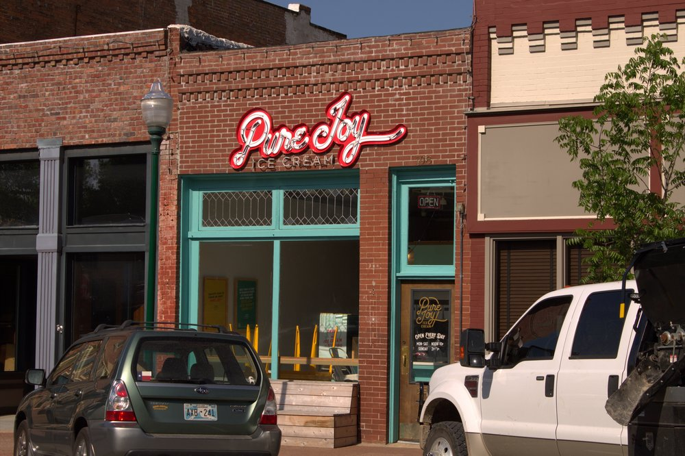 Pure Joy Ice Cream now occupies the building where Rapps' Barber Shop was located.