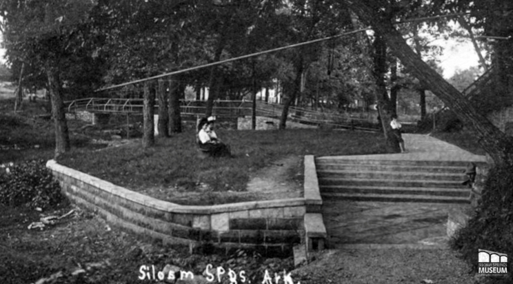 By the time this 1911 photo was taken, several landscaping implements had been added to the area around the park.