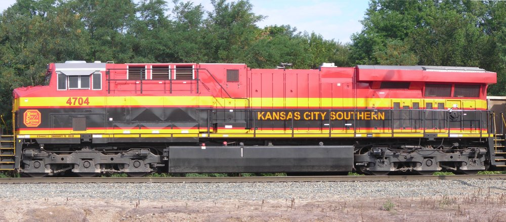 A modern KCS locomotive. Photo from Wikimedia Commons.