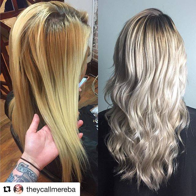 #Repost @theycallmereba with @repostapp ・・・ #beforeandafter #transformation #blonde #blondehair #balayage #change #paulmitchell @amarcelitesalon