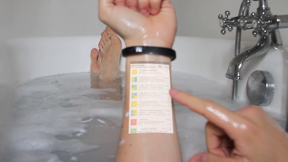 You have mail. On your wrist. In the tub.