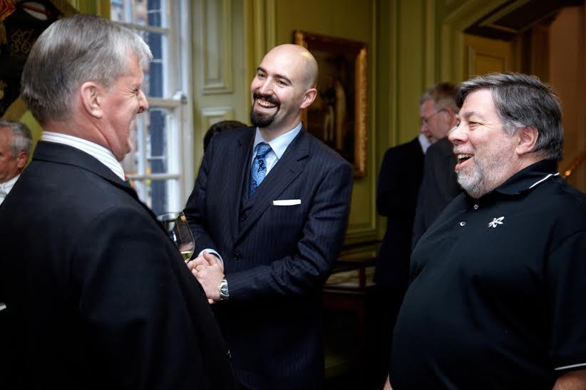 Jamie Coleman and Steve Wozniak