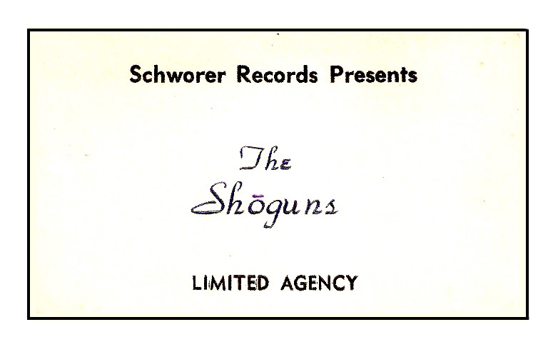 The Shoguns' business card