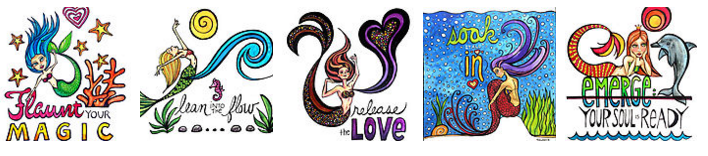 Click the image to visit the Magical Mermaids collection on RedBubble!