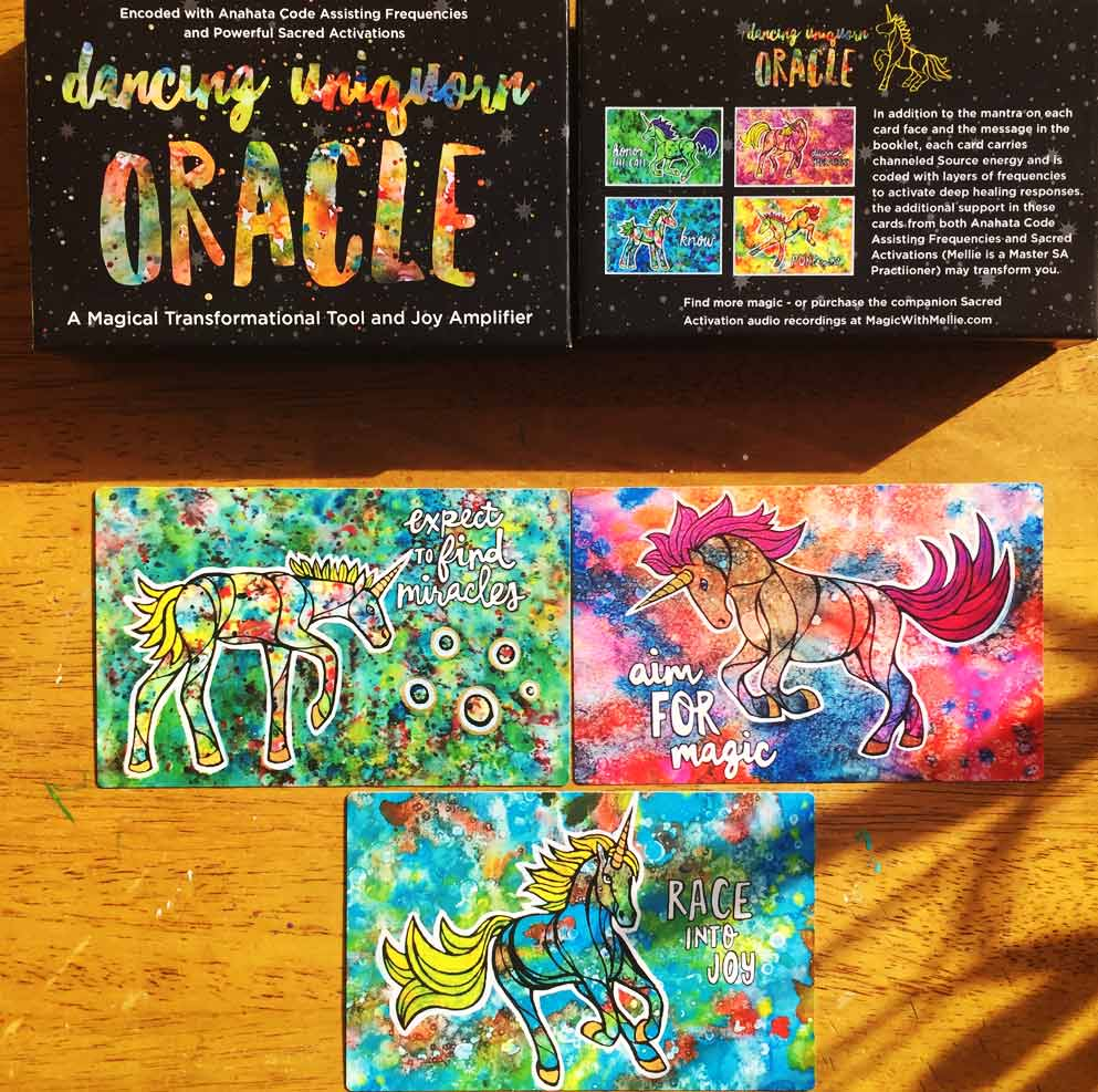 Click on the Dancing Uniquorns cards to purchase this oracle deck!
