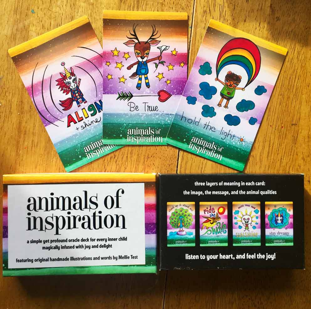 Click on the Animals of Inspiration to have your own magical oracle deck!