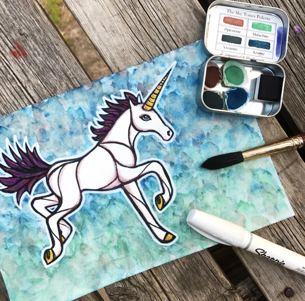 unicorn-watercolor-greenleaf-blueberry