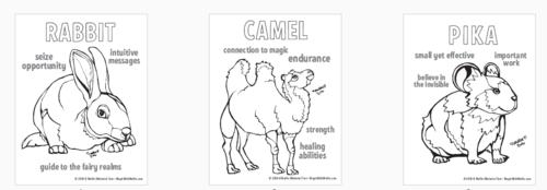 Spirit Animals Mini coloring Book — Magic with Mellie