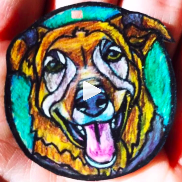 Dog Pet Portrait Charm