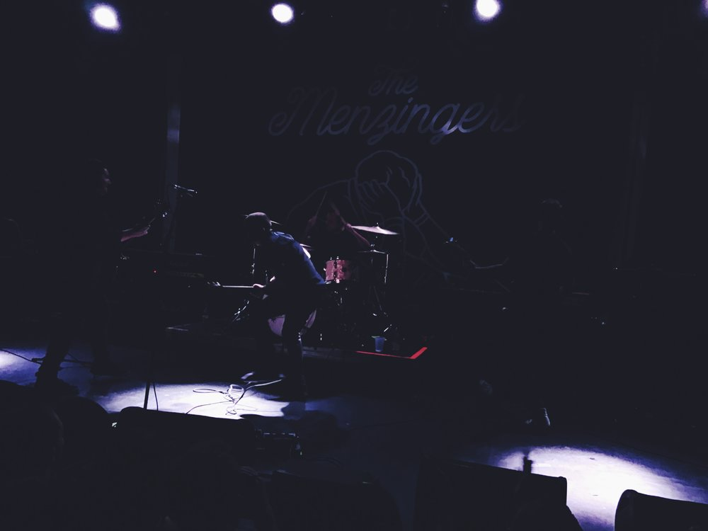 "the menzingers at music hall of williamsburg, during ""in remission."" photo by me."