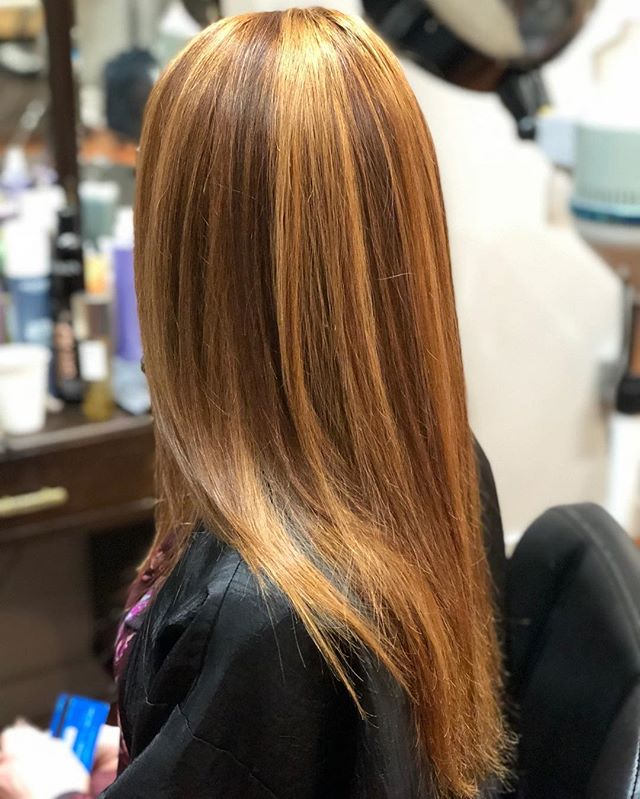 Beautiful cinnamon created with goldwell color. #andrealmarlow #tedisaacssalon #goldwell #pdxhair