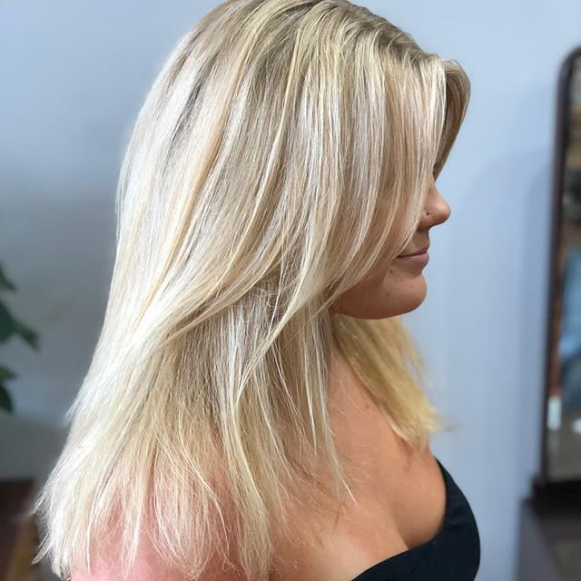 Beautiful fun summer blonde. #tedisaacssalon, #goldwell, #balayage, #blonde