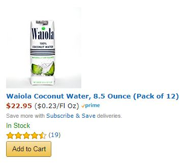 WWI Podcast listeners save $7 on Waiola Coconut Water Till 4/9/18