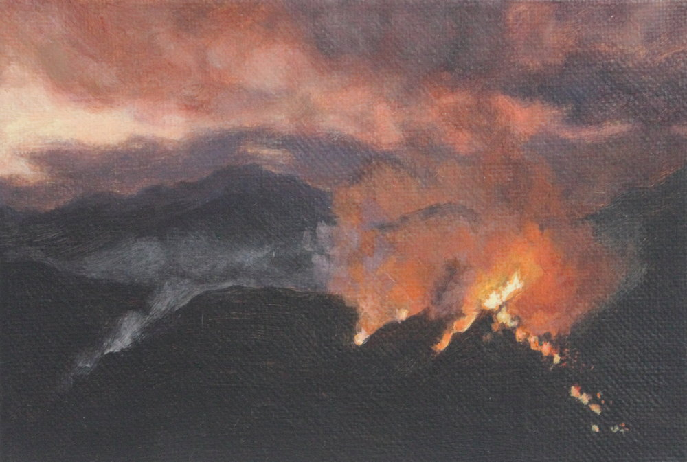 Burning at Sunset 2013 5x7'' acrylic.JPG
