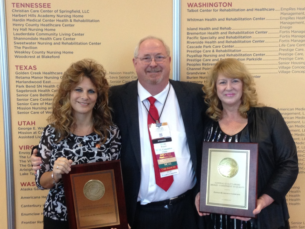 From left to right: Wendy Mcilnay  , Chris Mason-  CEO of Senior Housing Managers and Past NCAL Chair, Robyn Meier.