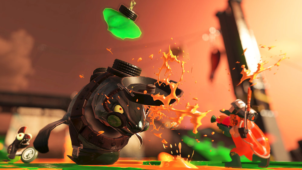 One of the mini bosses you'll face in the excellent Salmon Run mode.