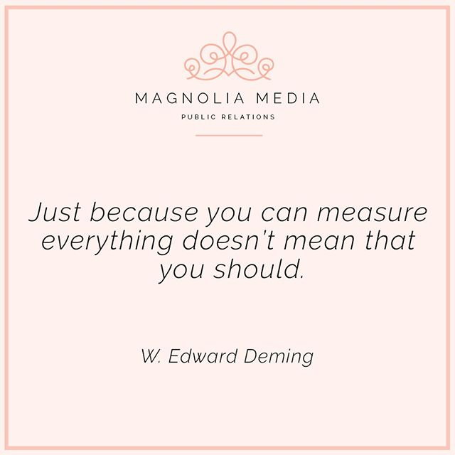 Don't get caught up on analytics that don't matter to you! Set your goals early in the year, quarter or month and stick to focusing on those results. #magnoliamediapr #magnoliamedia