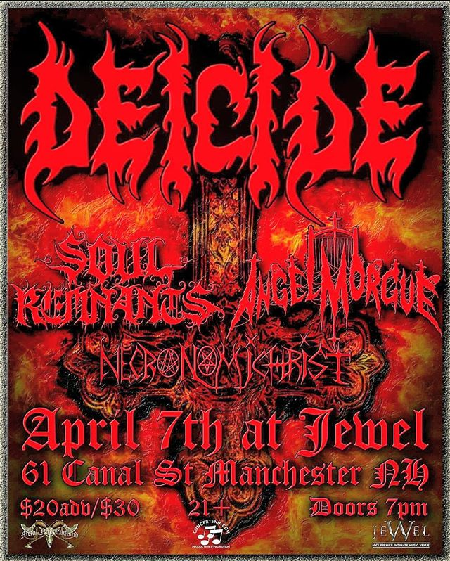 Come out and watch @soulremnantsband as direct support for the mighty DEICIDE \m/