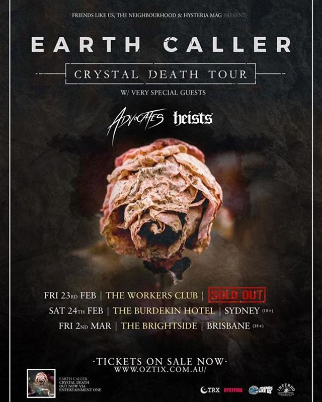 Check out @earthcaller on their record release tour. Congrats on selling out the first show!