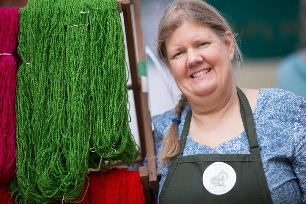 Lois Olund of Blakesley Creek Farm and Bellwether Wool Company