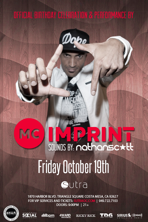 MC IMPRINT's bday celebration at Club Sutra