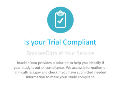 Clinical trial compliance