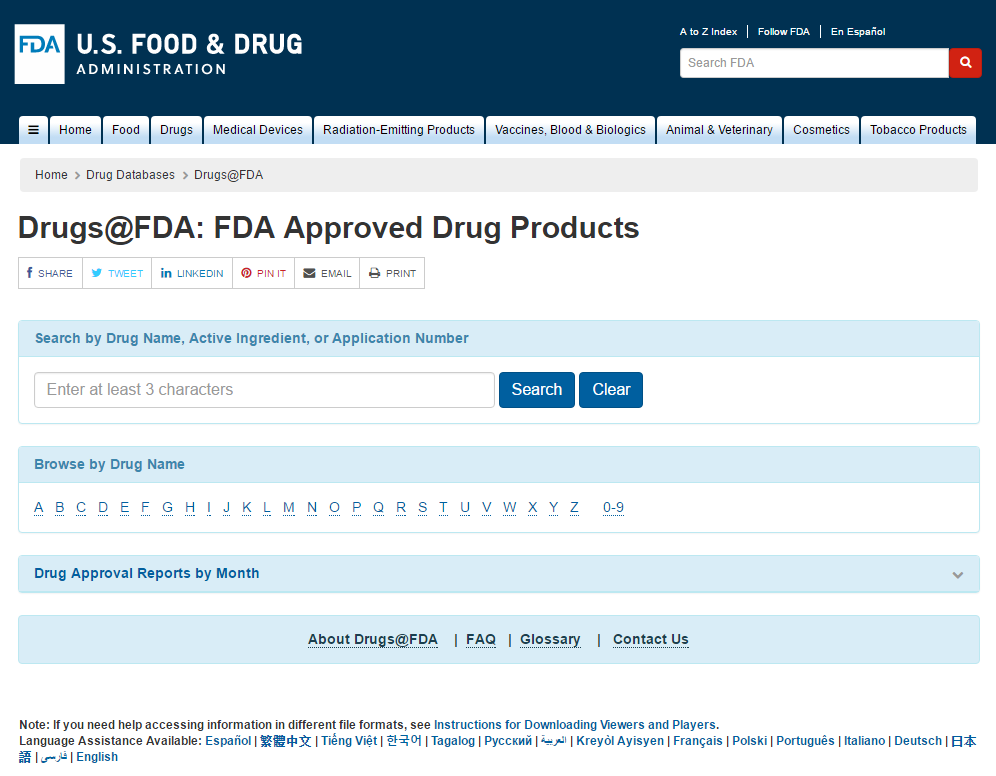 Drugs @ FDA