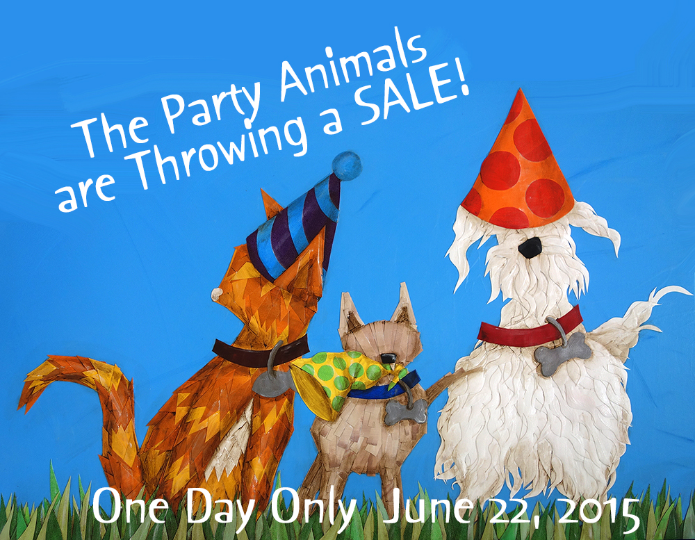 "The Birthday sale is on! 45 years = 45% off of Robin Anne Cooper's  signature painted  canvas collage paintings  and sculptures. Shipping is only $5! ONE DAY ONLY! June 22nd, 2015 12 am - 11:59 pm endoftheroadstudios.com or at End of the Road Studios 255 East Bear Swamp Rd.  Walhalla, SC 29691 864 506 6116 studio will be ""open"" from 7 am until 11 pm on June 22nd. in stock art only, sorry not on commissions"