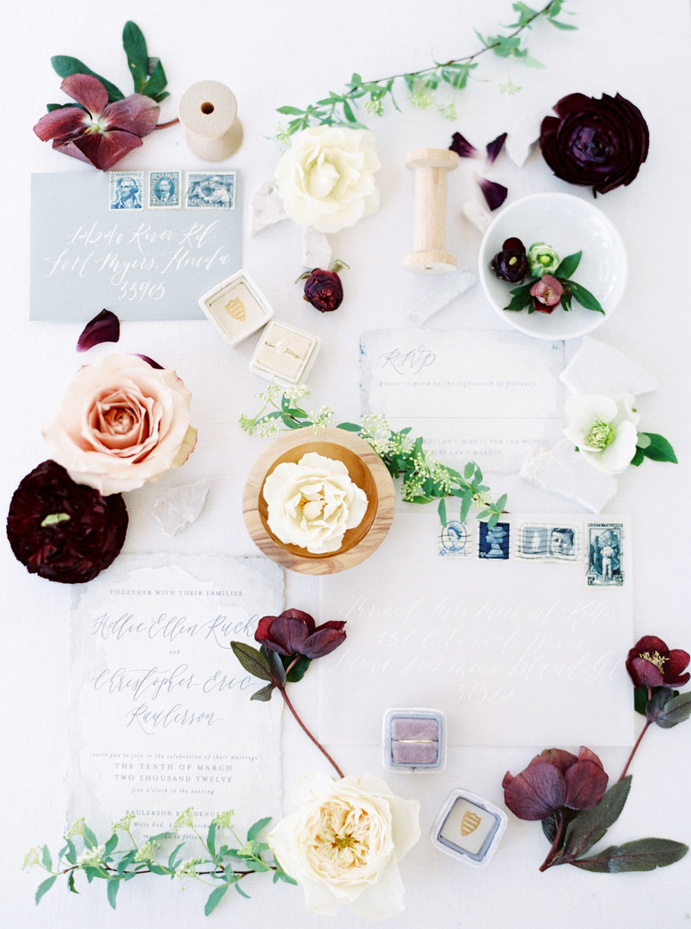 Calligraphy and vellum invitation