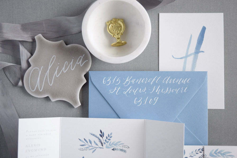 Brush lettering baby shower
