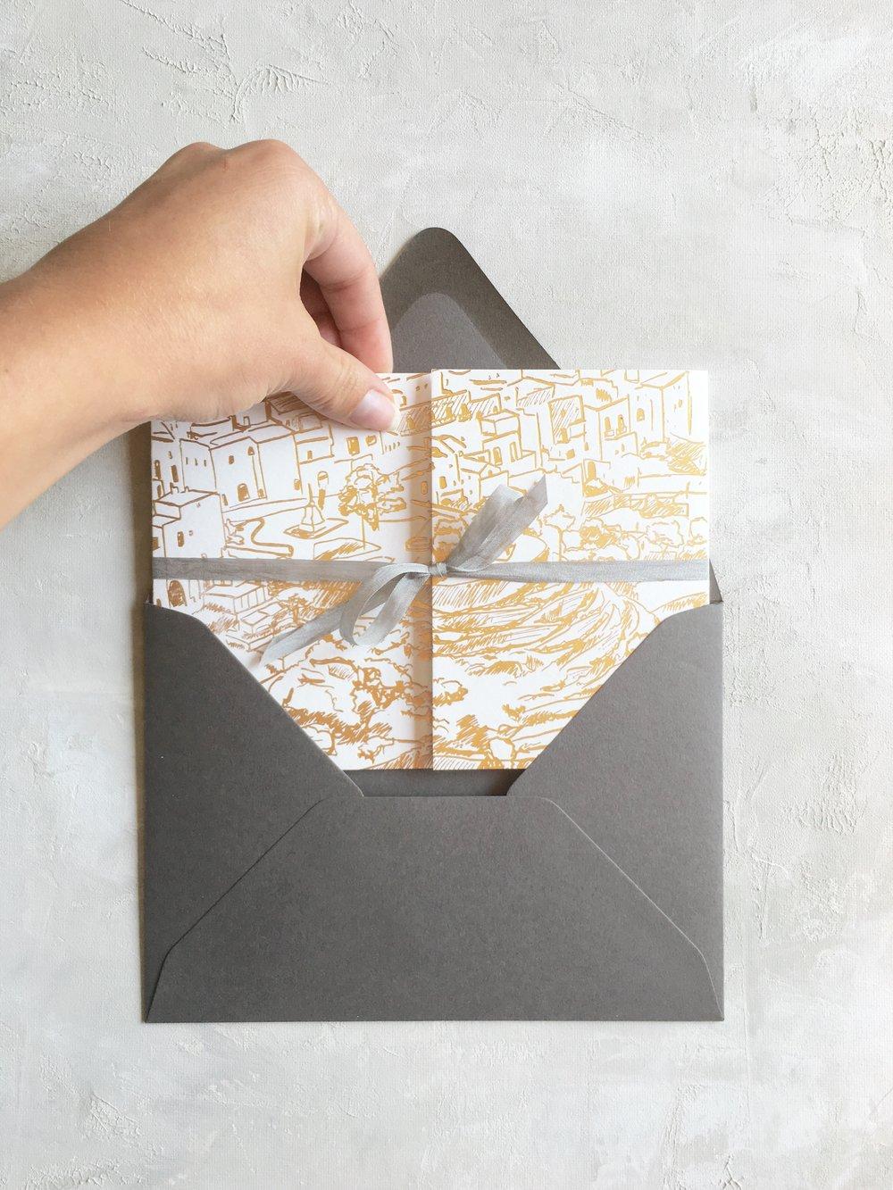 On Three Designs Wedding Invitation