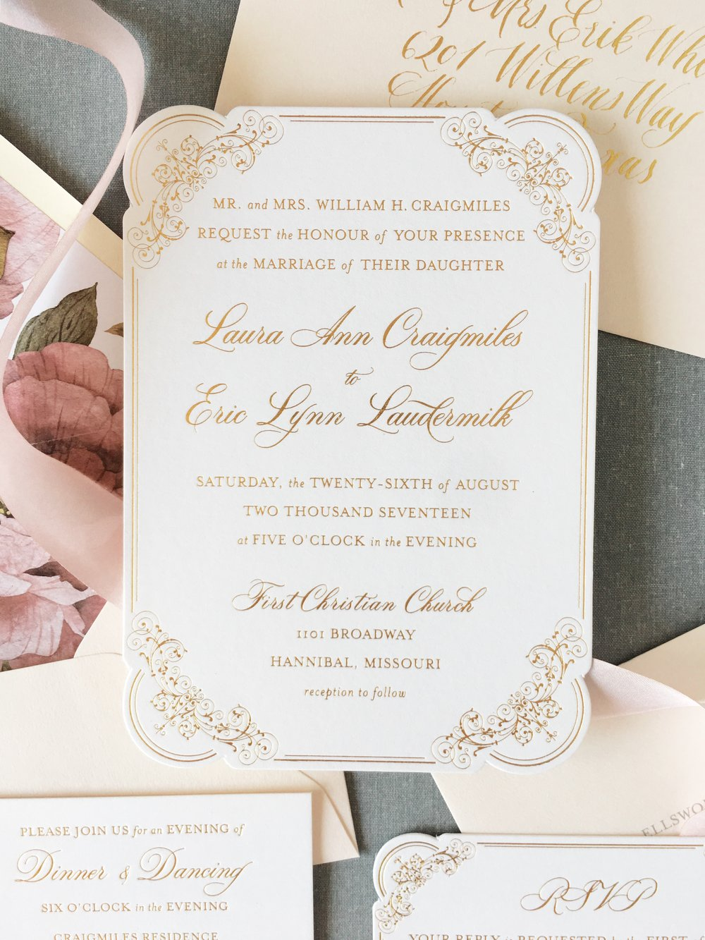 On Three Designs Wedding Invitation