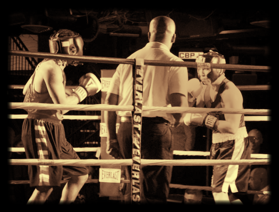 SSBC's Marcus Brown (left) - 1st Rd TKO win Feb. 19th, 2015.