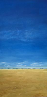 "Title: Sky Blue Artist:  Suzanne Robinson Size: 24"" x 48"" Medium: Oil on Canvas Price: $2500  Located @HayleyGallery"