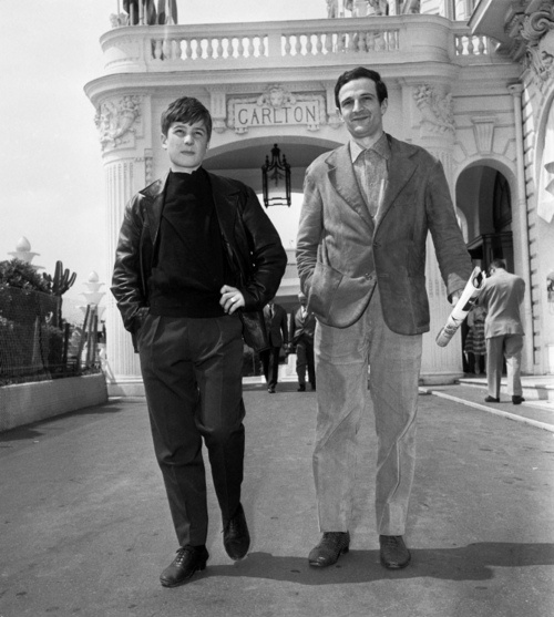 mubiblog :     Jean-Pierre Léaud & François Truffaut in Cannes, 1959