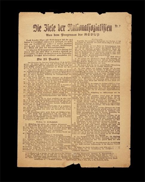 Los 25 puntos del Programa nazi