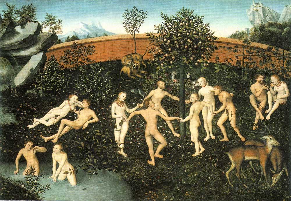 """Lucas Cranach el viejo, """"La Edad de Oro"""" (siglo XVI)"""