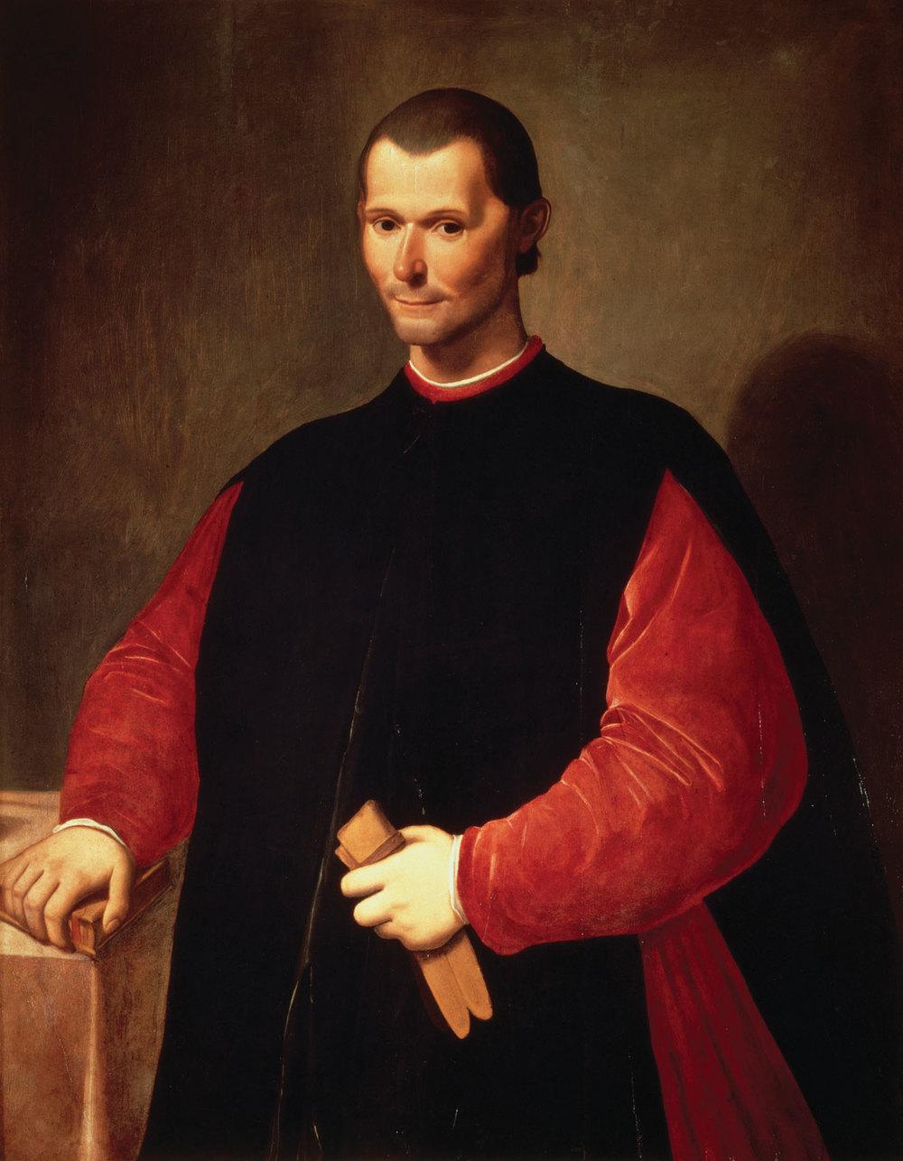 Retrato de Maquiavelo, por Santi di Tito