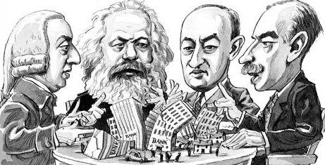 Adam Smith, Karl Marx (18181-1883), Joseph A, Schumpeter (1883-1950) y John Maynard Keynes (1883-1946)