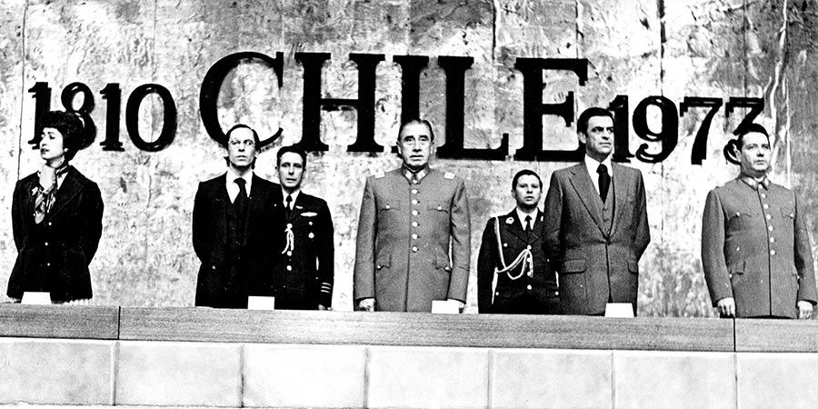 José Piñera (izquierda de Pinochet).
