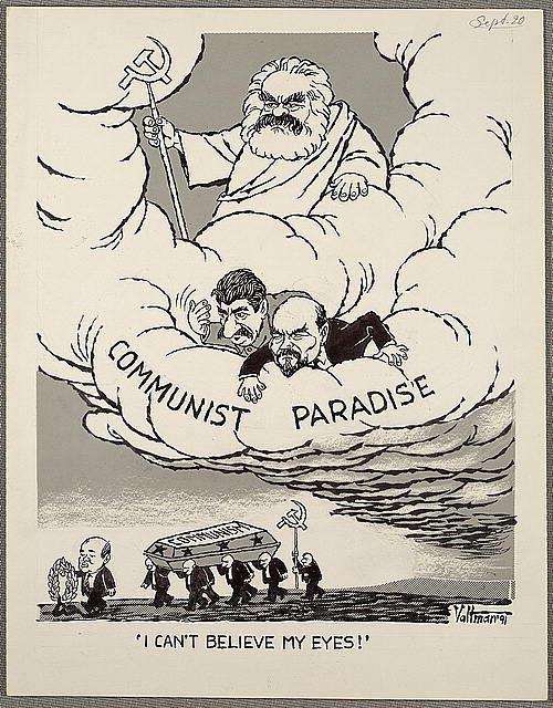 Marx, Lenin, Stalin y Gorbachov