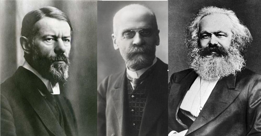 Weber, Durkheim y Marx, analistas e intérpretes de la Modernidad