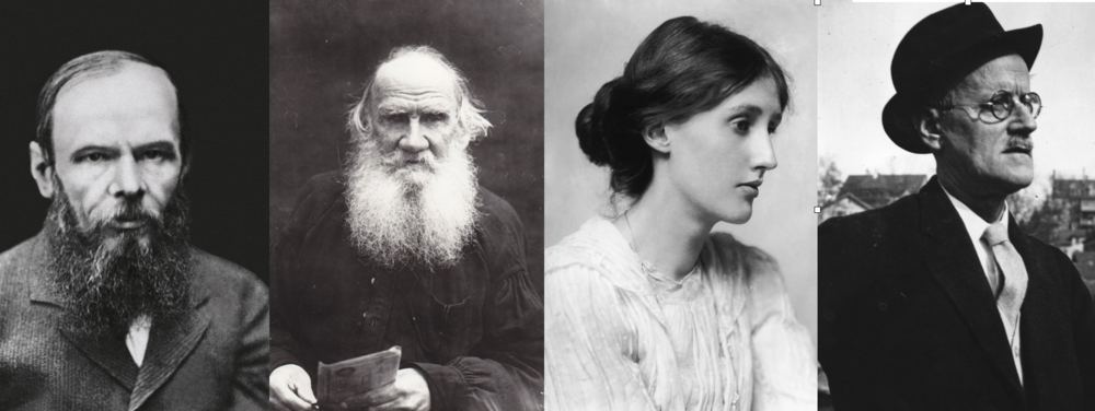 Dostoiesvki, Tolstoi, Woolf y Joyce