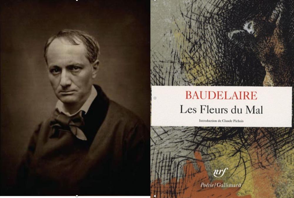"""El gran Charles Baudelaire, marcado por una vida de excesos y bohemia. Paul Verlaine (amante de Rimbaud) lo incluyó dentro de los llamados """"poetas malditos"""". Se acredita a Baudelaire el haber dado origen al término """"modernidad"""". Finalmente los males producto de la sífilis acabarían con su vida."""