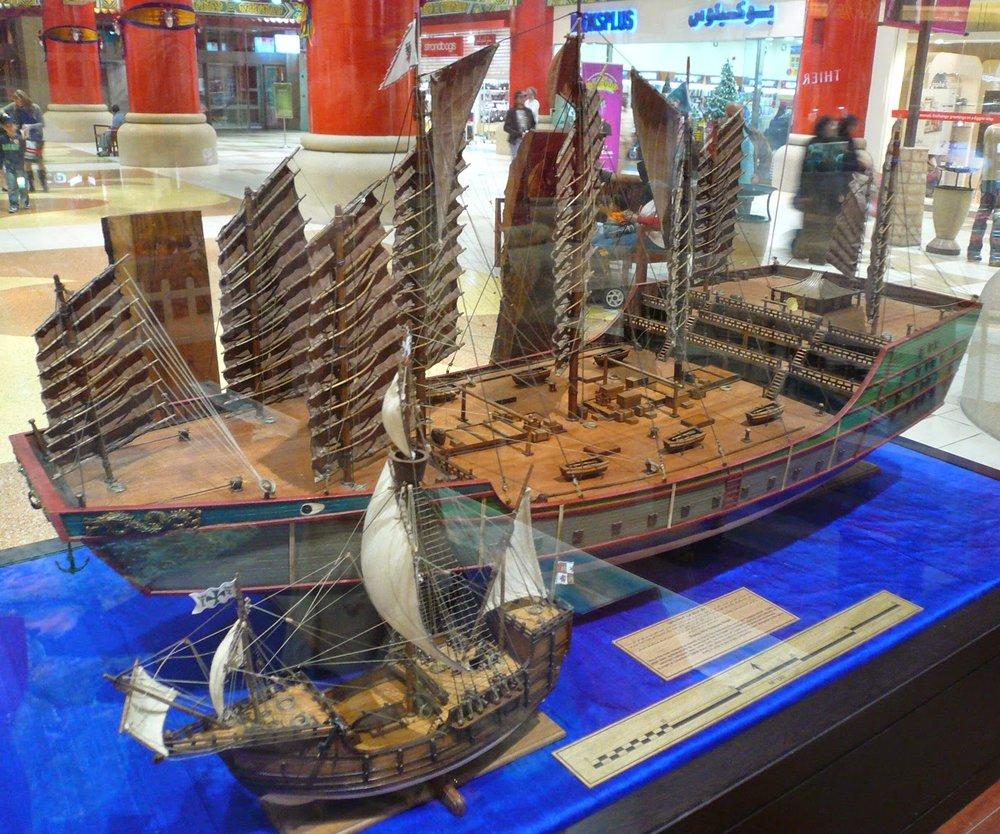 Las embarcaciones del navegante japonés habrían sido de mayor tamaño que las europeas