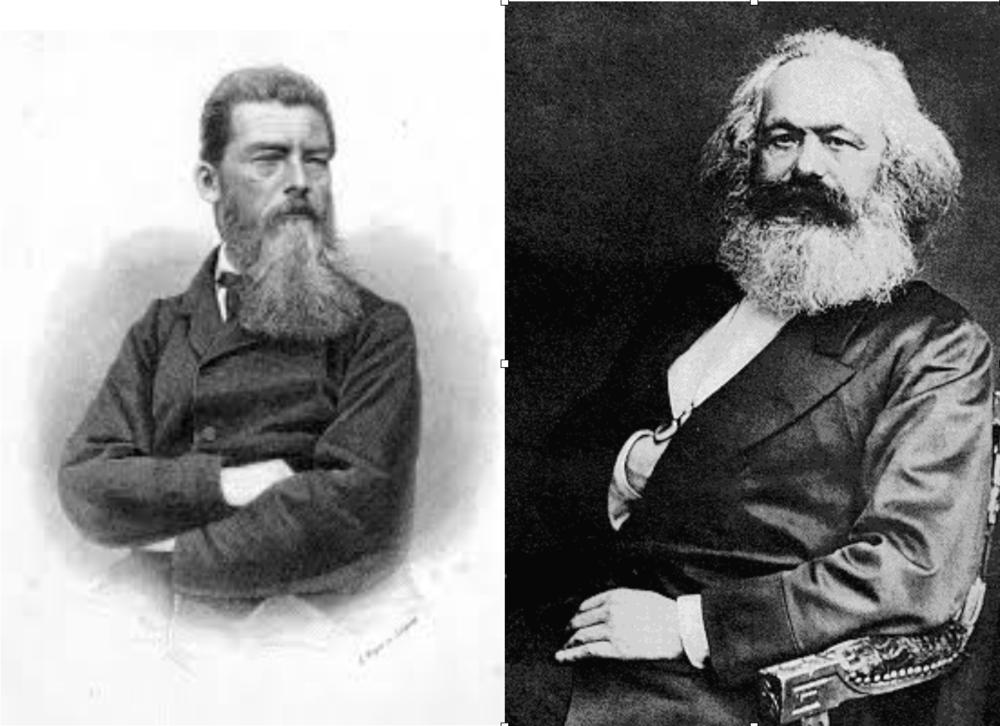 La crítica alemana a la religión. Para Feuerbach Dios era solamente una proyección humana y para Marx la religión era el opio del pueblo.