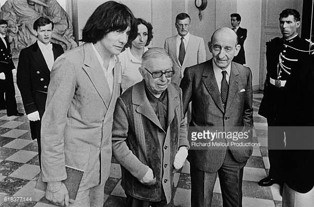 A. Glucksmann (1937-2015), R. Aron (1905-1983) y J. P. Sartre (1905-1980)
