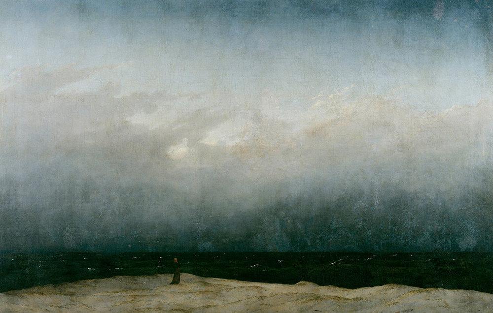 Monje en la orilla del mar, de Caspar Friedrich
